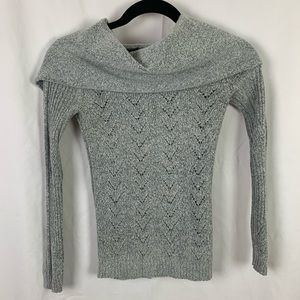 Light Gray Cowl Neck Sweater Jessica Simpson S